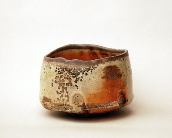Matcha Chawan (teabowl) made of stoneware. Fired in anagama for 5 days. 4 inches wide and 3 inches tall. What I like about this pot is the quiet