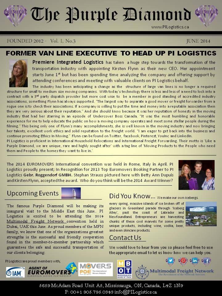 PI Logistics June 2014 Newsletter