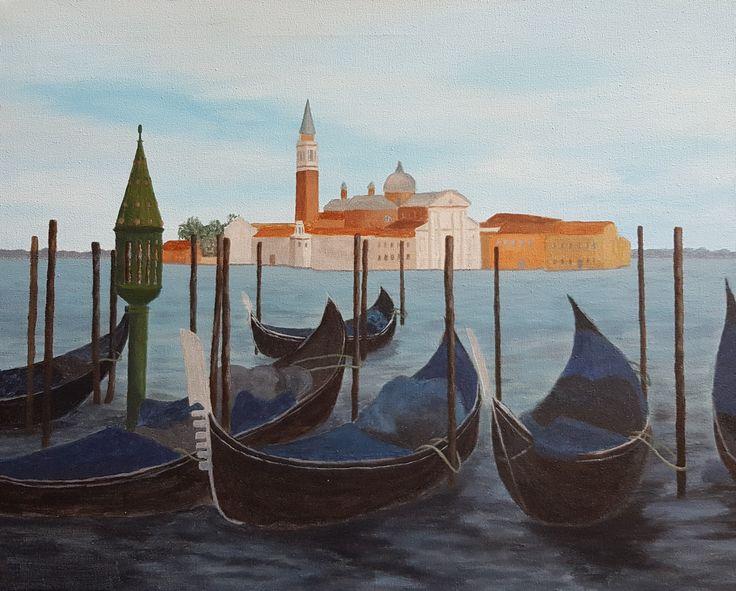 Venetië, painting by Gerda. Artist at art studio Eduard Moes.
