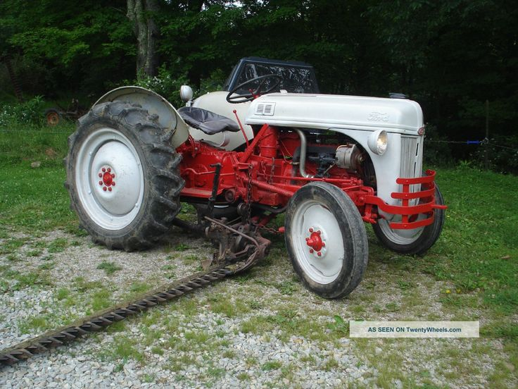 1949 Ford 8n Farm Tractor With Side Sickle Bar Finish