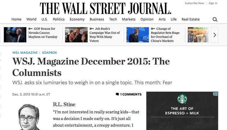 topics columns wall street journal