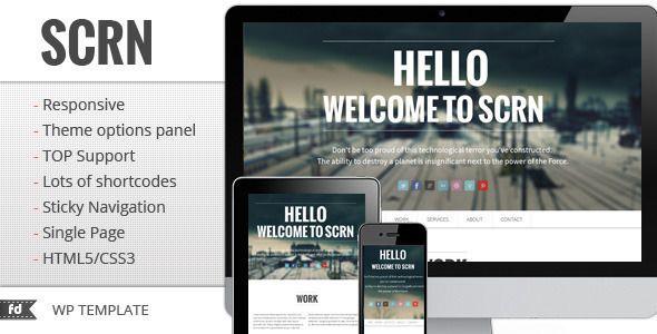 SCRN - Responsive single page portfolio - Portfolio Creative $35