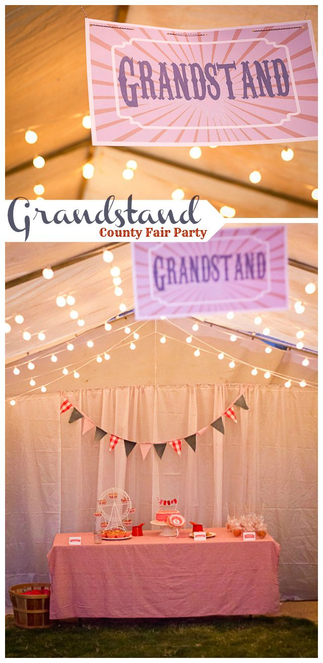 Grandstand and prize winning dessert table from County Fair birthday party by My Insanity