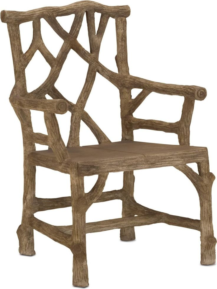 Woodland Arm Chair Artisan Hand Applied Concrete On Metal Frame, Sculpted  In The Likeness Of Tree Branches For A Rustic Style.