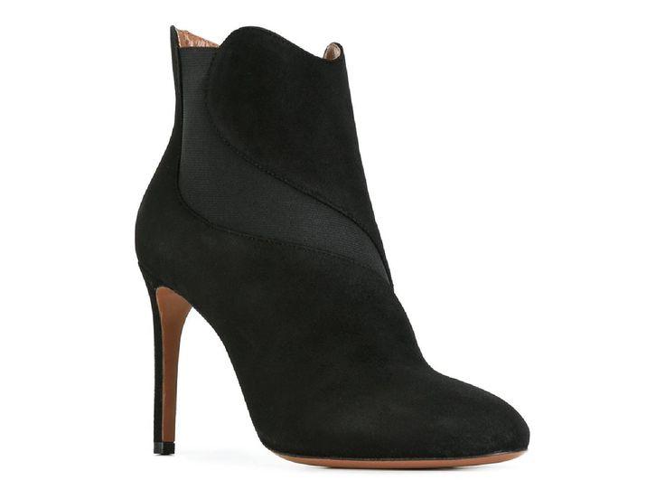 Alaïa black suede leather stiletto heels ankle boots - Italian Boutique €455