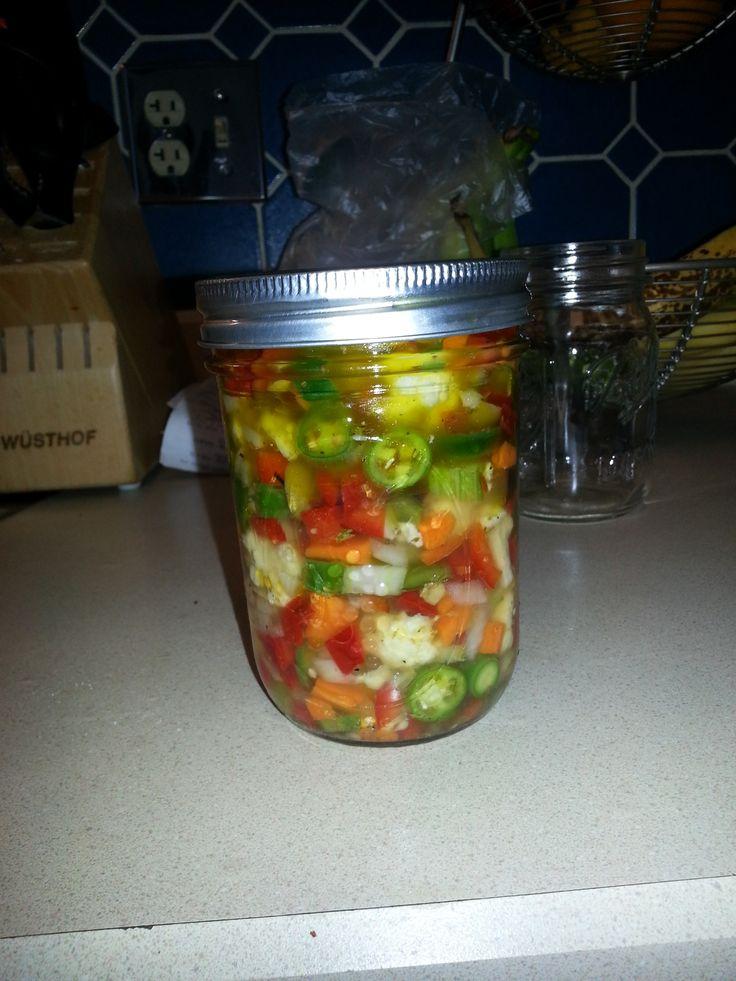 GIARDINIERA RECIPE http://www.chicagonow.com/nancys-world/2013/10/world-famous-giardiniera-recipe