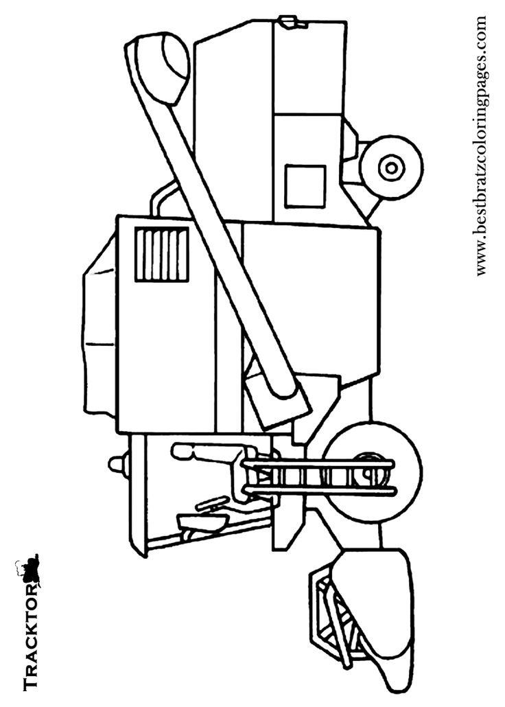 Free printable tractor coloring pages for kids coloring for Tractor template to print