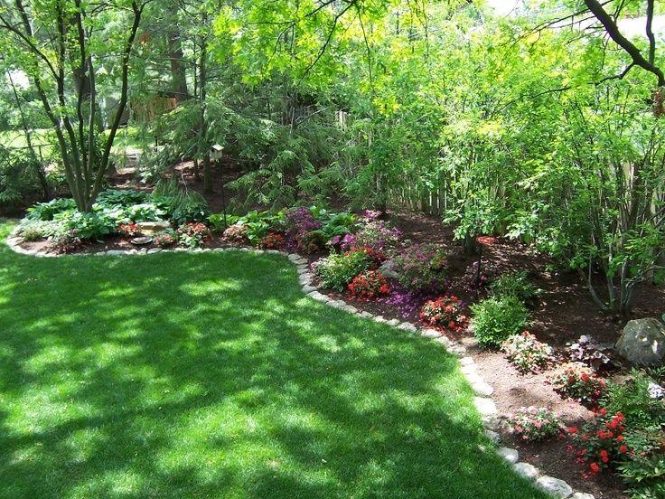 Side yard or fence border landscaping garden landscape for Side yard landscaping ideas