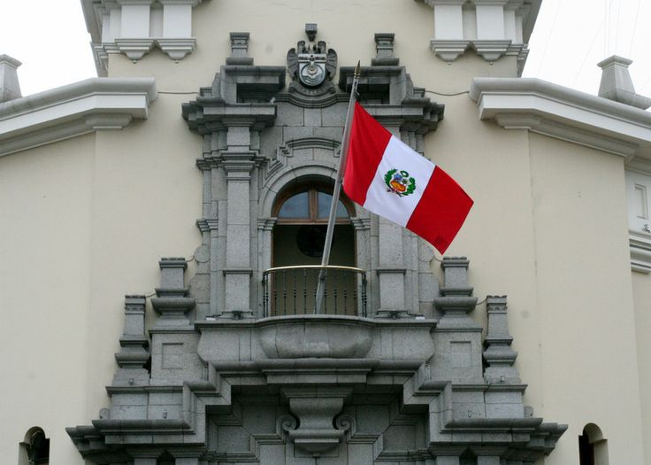 Peru Flags can be seen outside windows and doorways to mark the celebration of Peru's Independence Day