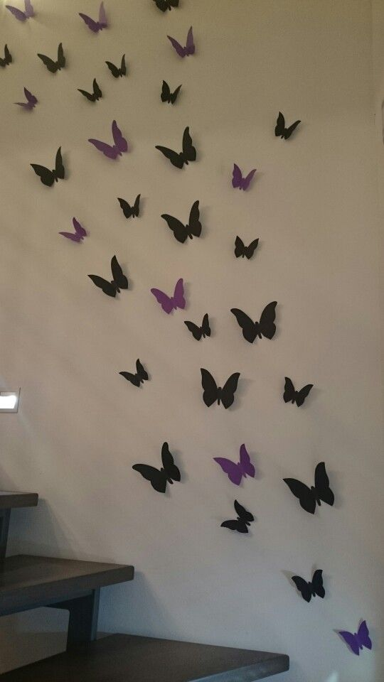 Popular Schmetterlinge im Treppenhaus Deko Wandgestaltung Butterflies