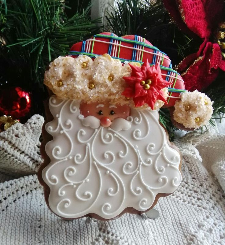 Plaid Santa by Teri Pringle Wood, posted on Cookie Connection