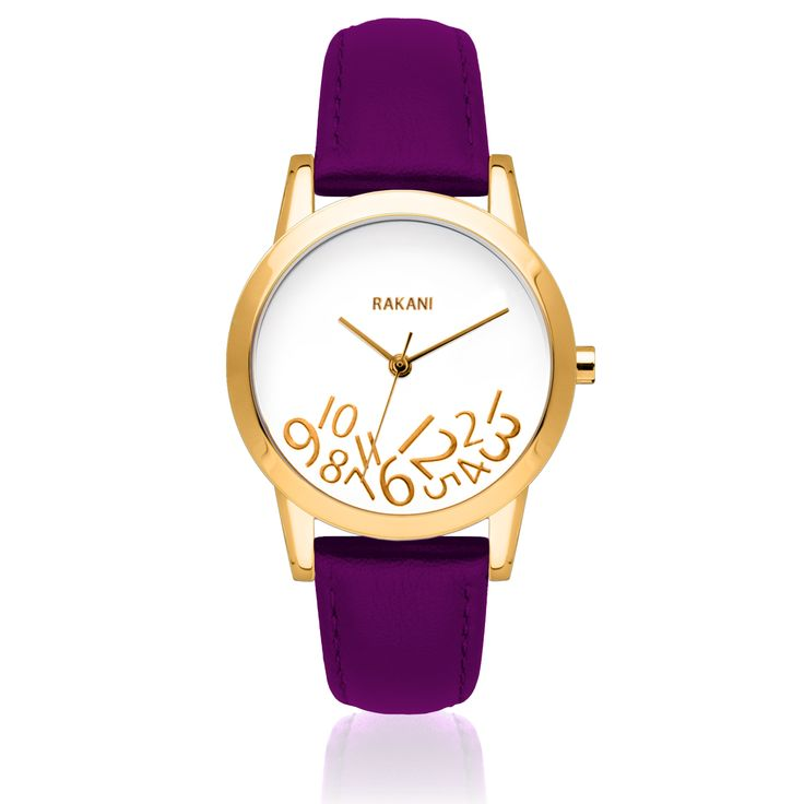 The new What Time? Purple and Gold watch from Rakani.