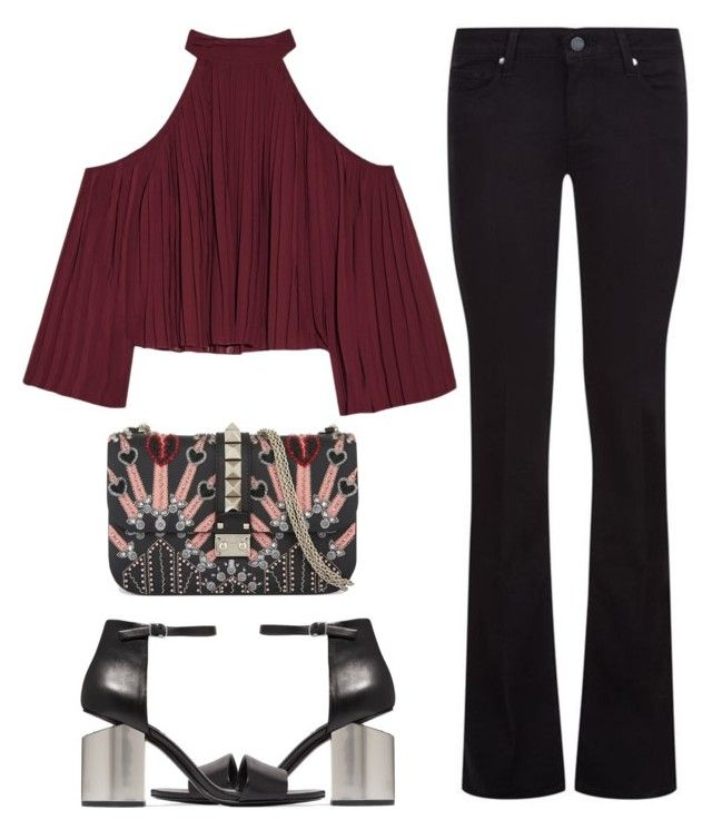 """Untitled #2446"" by annie-leah on Polyvore featuring Paige Denim, W118 by Walter Baker, Alexander Wang and Valentino"