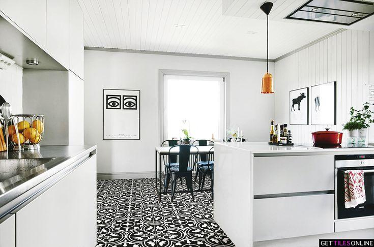 Keith Fleur Black Matt 200x200 (Code:01429) - Get Tiles Online