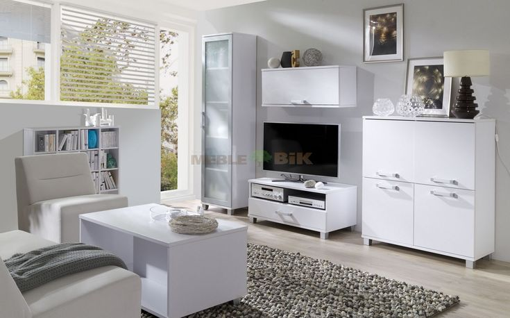 Meble białe do salonu Maximus - Maridex - sklep meblowy Meble BIK