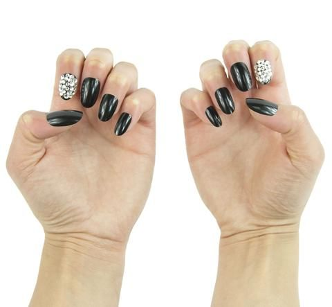 """""""Dark Matter"""" Oval Nails – NAILHUR – Reusable & Renewable Snap On Manicures in Seconds"""