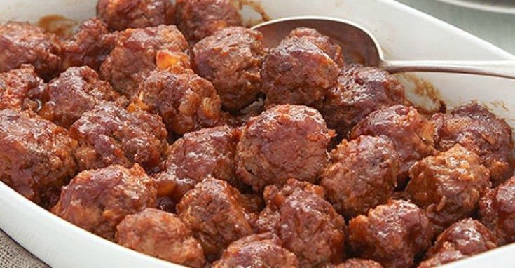 What If This Is The Last Meatball Recipe You Ever Need? Whenever I get asked to bring a dish to pass to any sort of function, I usually reach for my favorite meatball recipe... Appetizers,Argo cornstarch,baking powder,baking soda,Barilla pasta,Bertolli extra-virgin olive oil,Black pepper,Bob's Red Mill,Borden,brown sugar,Campbell's soups,Casserole,Chiquita,Clabber Girl,College Inn,Cool Whip,crock pot,Daisy sour cream,dessert,Dole,Domino sugar,easy party meatballs,eat,Eggland's Best…