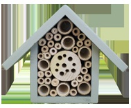 Guide for building your own bee hotel. Can use leftover wood and even plastic bottles.