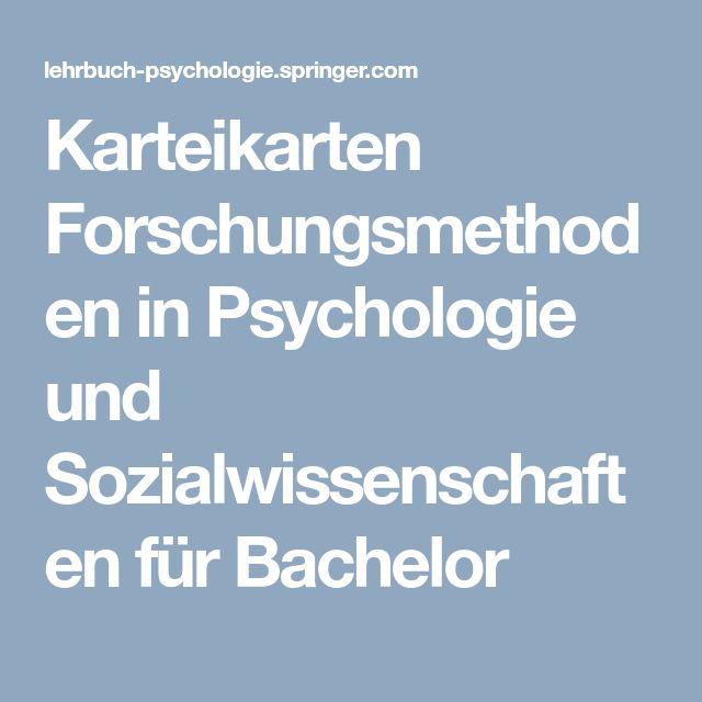 Karteikarten Forschungsmethoden in Psychologie und Sozialwissenschaften für Bachelor