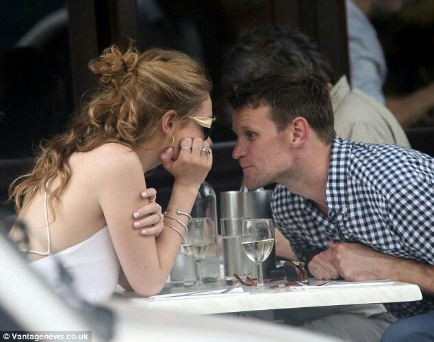 Adorable. Matt Smith and Lily James