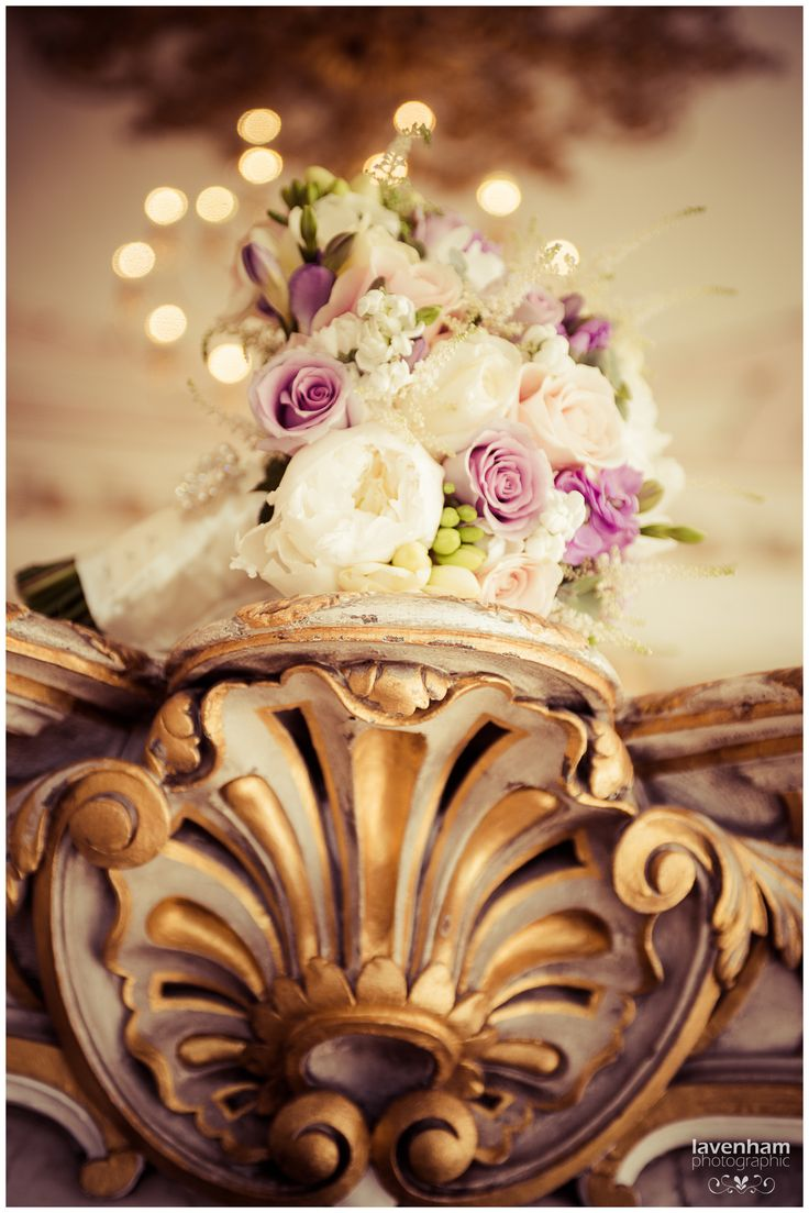 Bouquet on detailed mirror, Rococo suite, Gosfield Hall