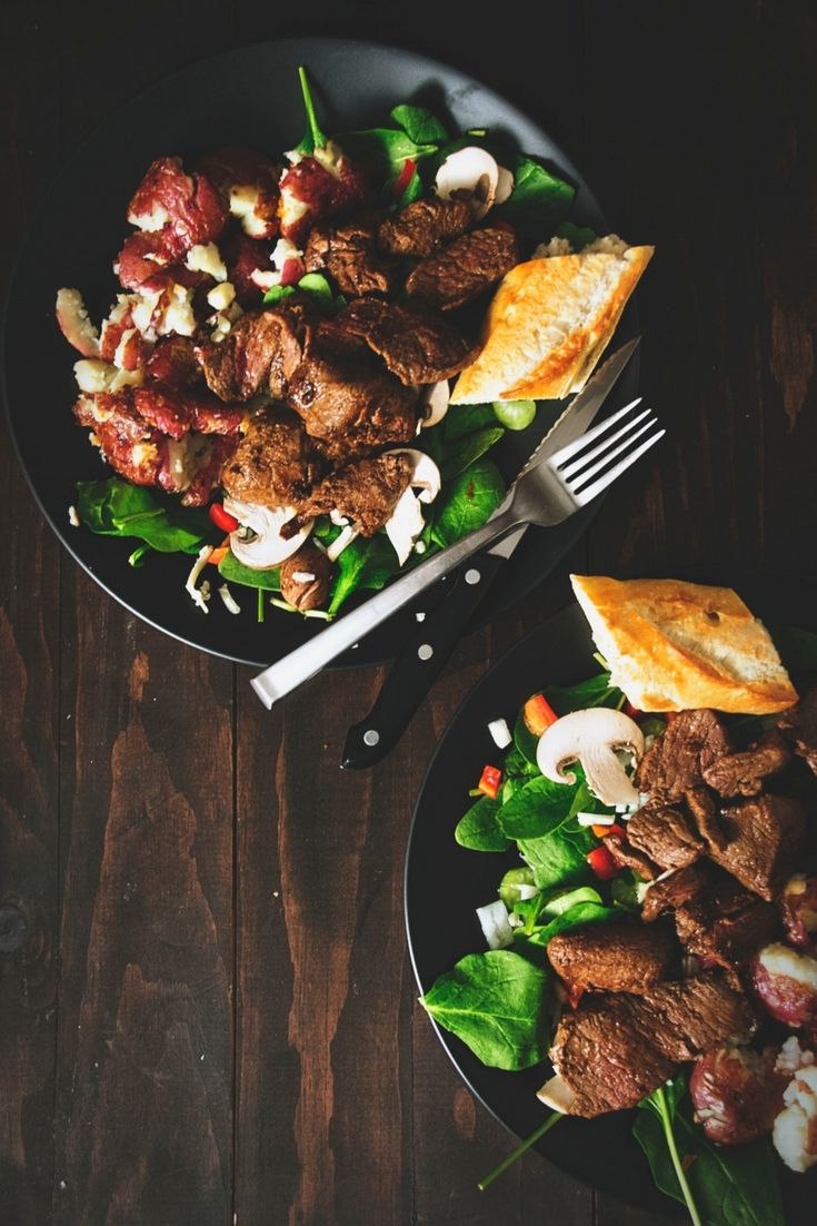 Filet Mignon Salad |   Get the full recipe! http://steakbytes.com/recipes/filet-migon-salad/