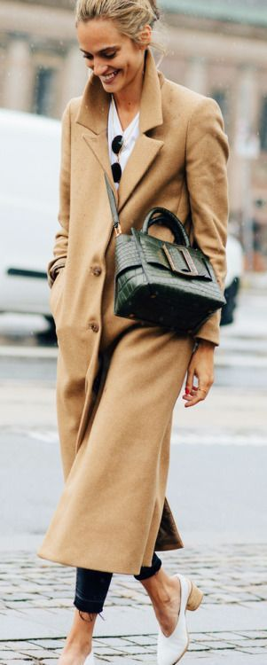 Travel Style Camel Midi Coat Fashion Pinterest