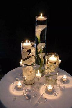 Centro de mesa con velas tutorial y 12 ideas                              …