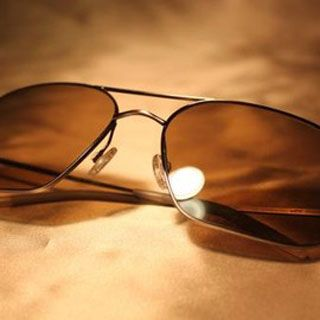 Oliver Peoples | Victory Gold with Cognac Polarized Glass - for a limited time only! #burnnotice