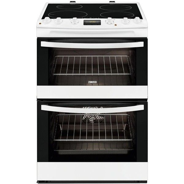 Zanussi Zci68300Wa 60Cm Electric Induction Double Oven ($1,090) ❤ liked on Polyvore featuring home, home improvement and household appliances