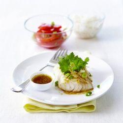 Kabeljauwhaasje met vinaigrette van gember en koriander | Carrefour, market, express
