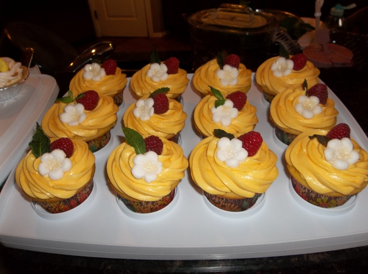 Meyer Lemon Raspberry Cupcakes Recipe — Dishmaps