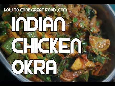 Nice Chicken & Okra Fry Massala Indian Curry Bhindi Ladies Fingers Video #photo #image #food #cook