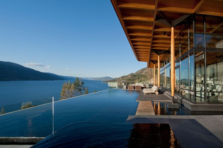 What an amazing infinity pool and view this is truly west for Pool design kelowna