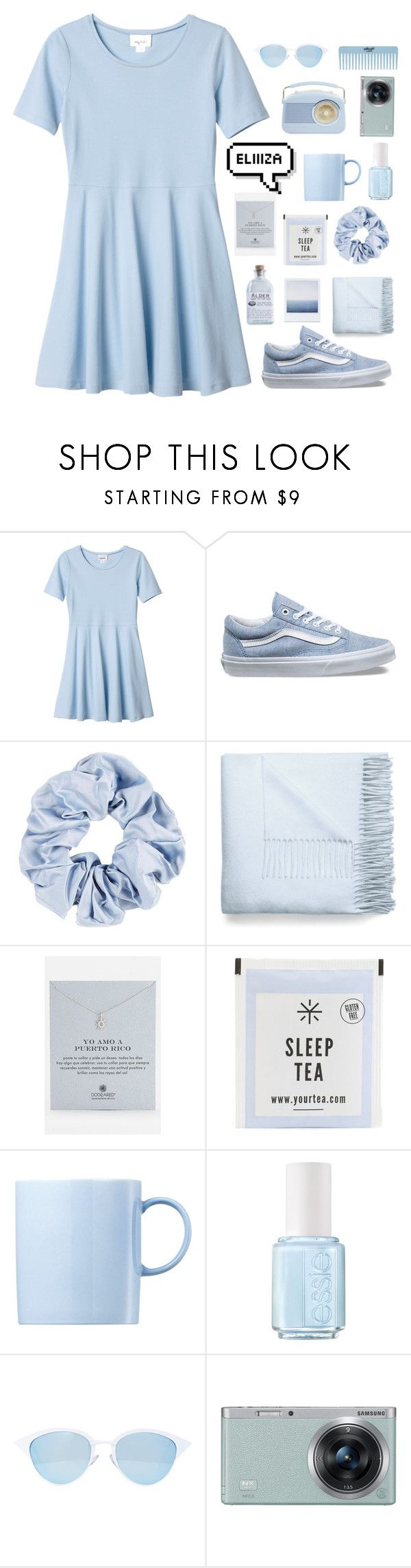 """""""eliza"""" by fashion1oh1 ❤ liked on Polyvore featuring Monki, Vans, Acne Studios, Dogeared, Alder New York, Rosenthal, Essie, Quay and Samsung"""