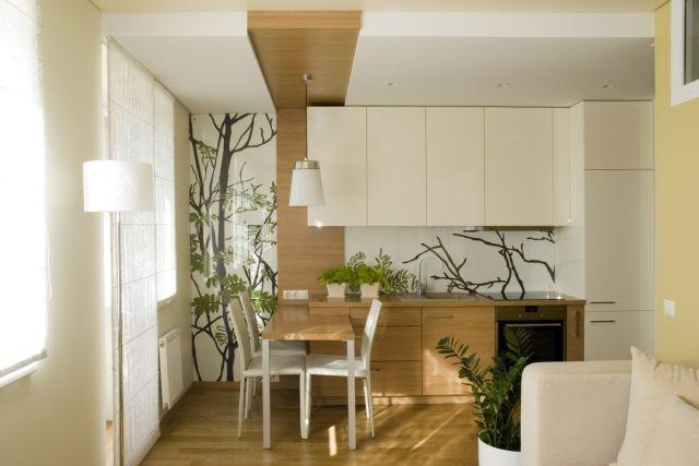30 Einrichtungsideen für Wohnzimmer mit offener Küche Pinterest