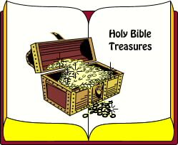 Bible treasure hunt idea -- a scavenger hunt through the Bible.  Give clue sheet with verses on it.  Each team has to race to find the item referred to in the scripture.
