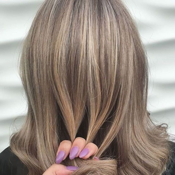 Light Brown Gray Coverage Gray Hair Highlights Covering Gray Hair Grey Hair Coverage