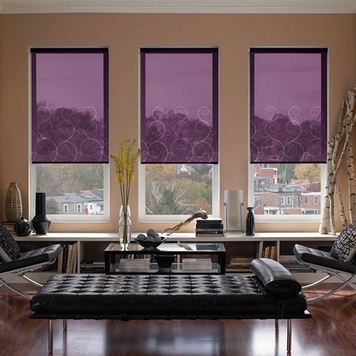 Rafaya Purple Child Safe Roller Blinds