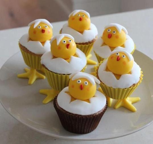 Muffiny a la Veľkonočné kuriatka