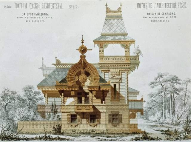 Neorussian style in 19th century architecture.