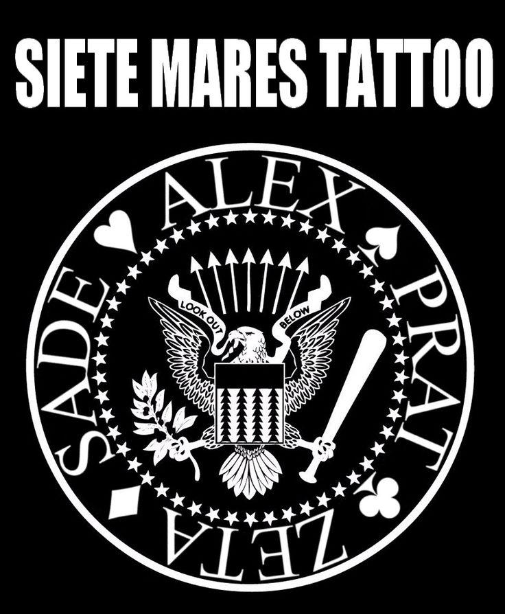 Local de tatuajes en Santiago The ramones siete mares tattoo alex Prat zeta Sade tatuajes prat local de tatuajes en santiago