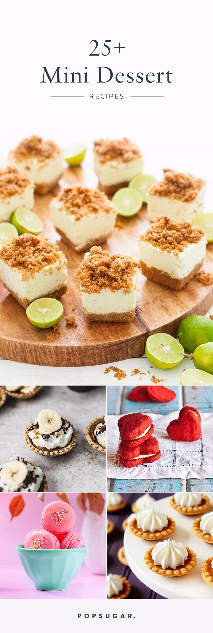 Whether you're hosting a party or just love all things bite-size, these mini dessert recipes are right up your alley and perfect for any season.