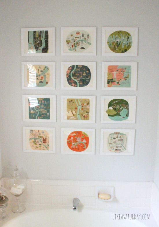 Master bath gallery wall  {for $36!}