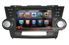 HD Touch Screen 2008 2009 2010-2013 Toyota Highlander Aftermarket Radio GPS Sat Nav DVD TV Bluetooth Dual-zone AUX MP3 iPod iPhone Dynamic Graphic UI Steering Wheel Control