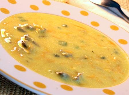 Sopa de Mandioquinha com Carne