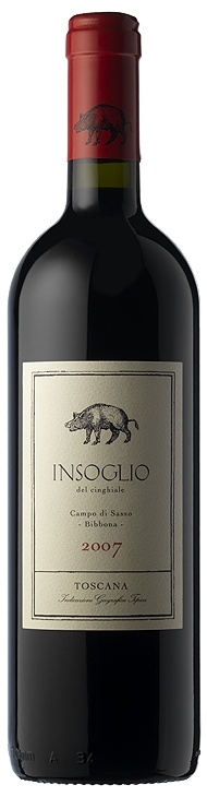 'Insoglio del Cinghiale' is the foundation wine of the Bibbona estate. It is made from 32% Syrah and the remaining part is a blend of Cabernet Franc, Merlot and Petit Verdot. Insoglio del Cinghiale is a very fleshy wine, coming from the distinctive Upper Maremma terroir.  The peppery characteristics coming from the Syrah make it the ideal accompaniment to game dishes, such as the local wild boar (after which it is named), roast pheasant or rich game stews.