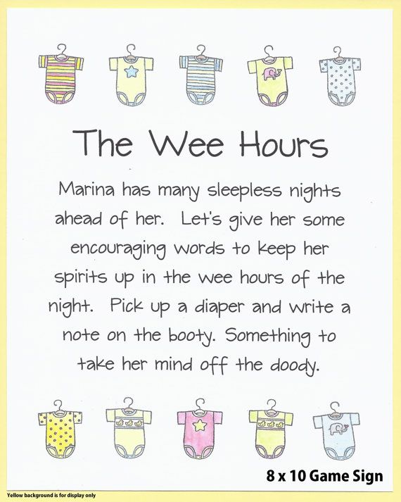 The Wee Hours   Baby Shower Printable Game Sign, Cute U0026 Funny Diaper  Message Shower Game, Easy Baby Shower Games, Cheap Baby Shower Games
