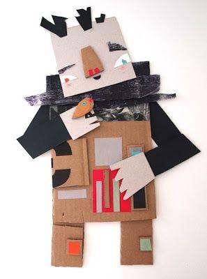 BilboPeques: Collage con materiales reciclados