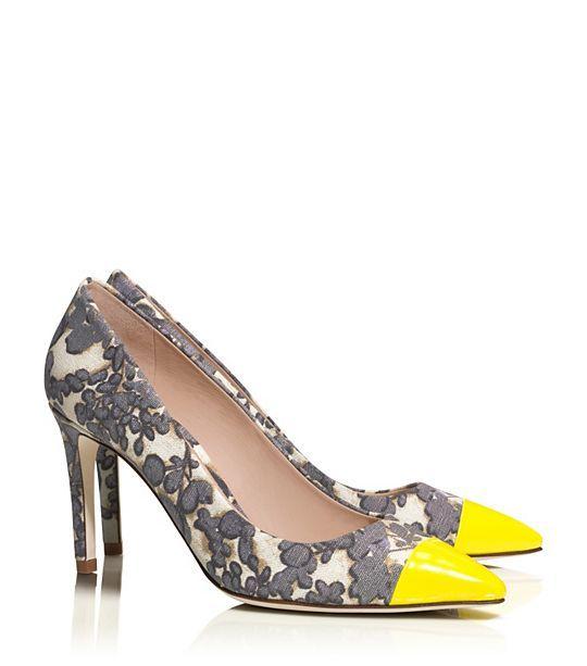 Tory Burch Issy Floral Pump    we ❤ this!  moncheribridals.com  #weddingshoes #bridalshoes #floralweddingshoes